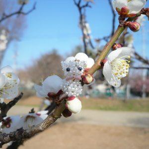 梅のお花&こねこのチャーム